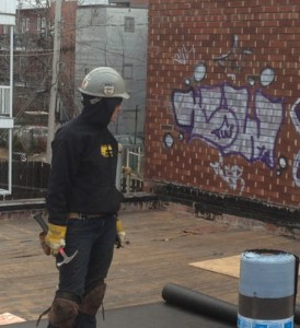 construction terrasse sur le toit